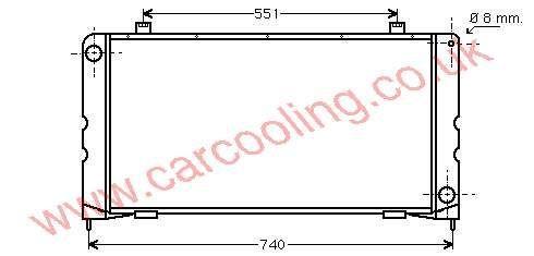 Radiator Daf 400    DAR 2873