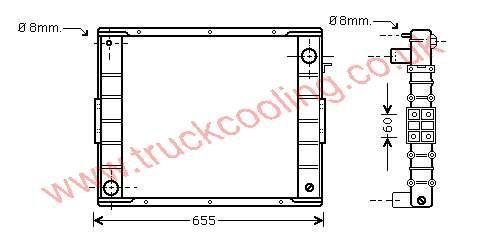 Radiator Iveco Eurocargo    98402096 / 4835552