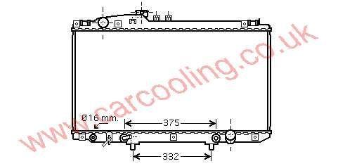Radiator Lexus SC430    16400-50280
