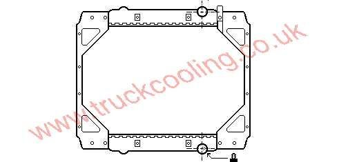 Radiator Daf 45-Series    WAK 1161 / 1272624