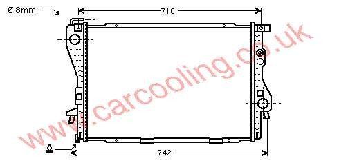 Radiator BMW 7-Series E38 1737813 / 1737710