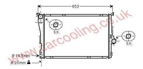 Radiator BMW 3-Series E46 9071517 / 1611573