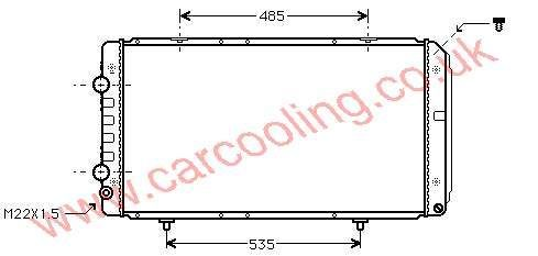 Radiator Citroen Jumper 1301.N0 / 1301.N1