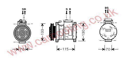 Compressor Chrysler Voyager    4677143P
