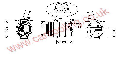 Compressor Vauxhall Zafira    1854092