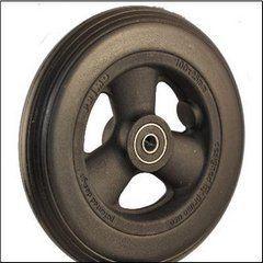 "Pr1mo Castor - 6"" (144 x 26mm) Black Plastic Wheel, Black Polyurethane Tyre"