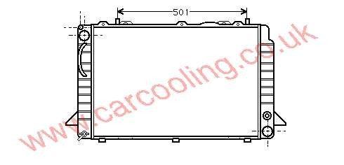 Radiator Audi Coupe Quattro II    8A0.121.251 B / D