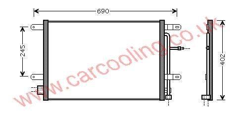 Condenser Audi A4 III Quattro    8E0.260.403 E / H / Q