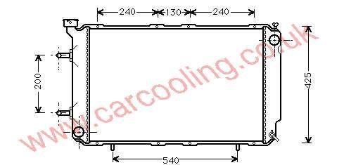 Radiator Subaru Legacy II 45199-AC210
