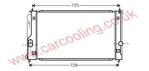 Radiator Toyota MR 2    16400-22110