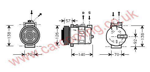 Compressor Rover 75    JPB101460