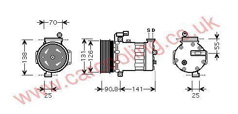 Compressor Rover 25    JPB101230