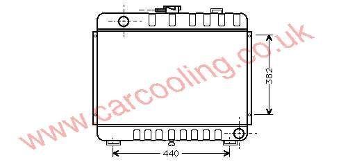 Radiator Merc. 307 D / 308 D ( BM 602 )    601.500.3003 / 6703