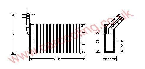 Heater Matrix Citroen Xsara    6448.78