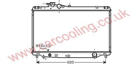 Radiator Toyota Supra    16400-46310