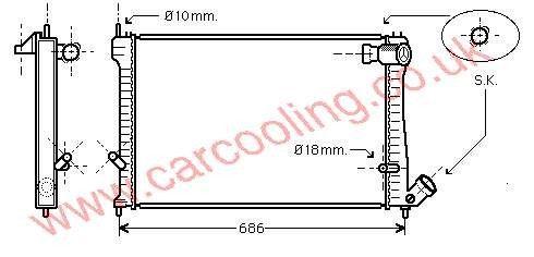 Radiator Citroen Xantia    1330.36