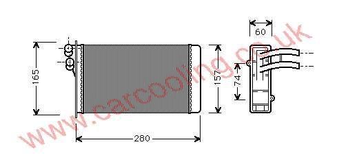 Heater Matrix Audi Coupe & Cabrio II 894.819.031 A