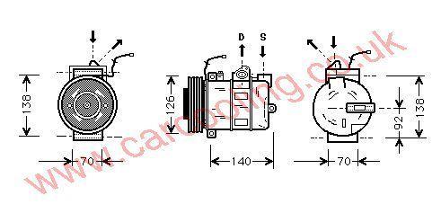 Compressor Porsche Boxster 99612601152