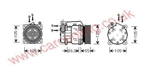 Compressor Alfa 166    606072890