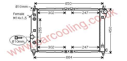Radiator Daewoo Kalos    96536526
