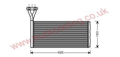 Heater Matrix Scania 4 Series    1437263