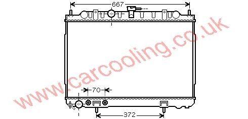 Radiator Nissan X - Trail 214608H900