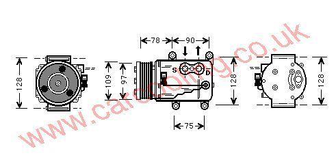 Compressor Jaguar S-Type    XR82897