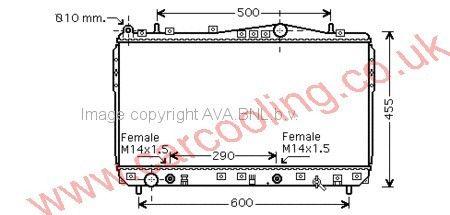 Radiator Chevrolet Nubira    96553243