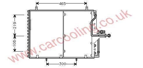 Condenser Merc. T124 Estate    124.830.1270 / 1670