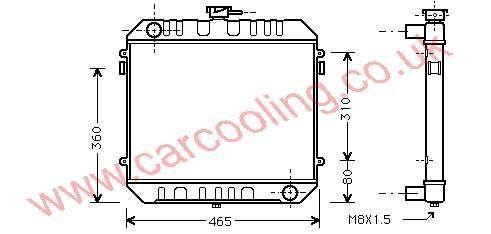 Radiator Vauxhall Cavalier Mk 1 1302121 - 09281798