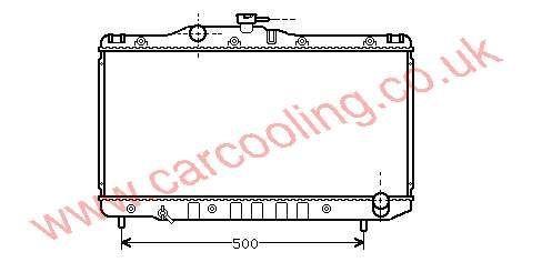 Radiator Toyota Carina II    16400-74370