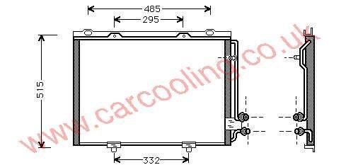 Condenser Merc. W210 E-Class    210.830.0270 / 0570