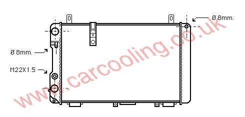 Radiator Citroen CX    95606694