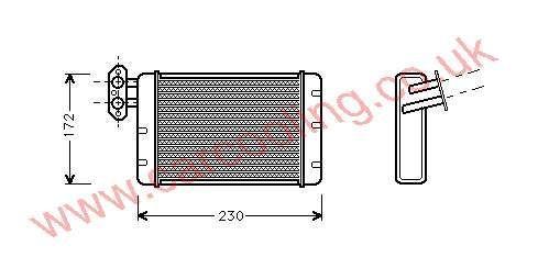 Heater Matrix Austin Metro AFP 5144 / LHT5106