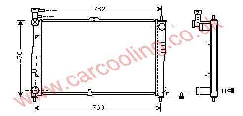 Radiator Kia Carnival OK55C-15-200 / A / B
