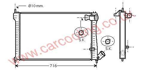 Radiator Citroen XM    1301.SG / 1301.SJ