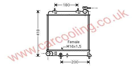 Radiator Hyundai Excel IV 25310-25250