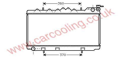 Radiator Nissan Sunny IV    21410-54Y00