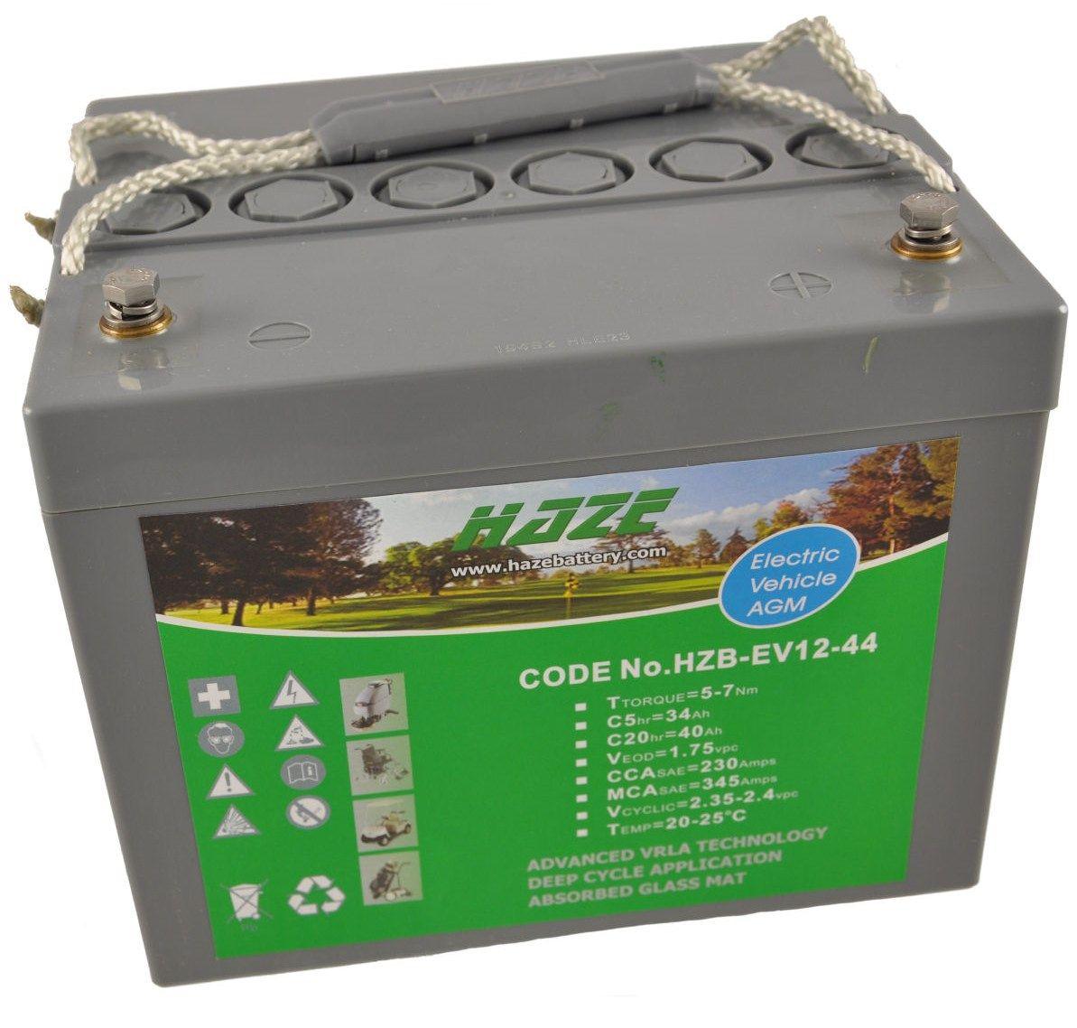 12V 46Ah Haze Sealed Lead Acid (AGM) Mobility Scooter Battery HZB12-44