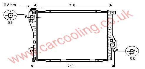 Radiator BMW 5-Series E39 1436062