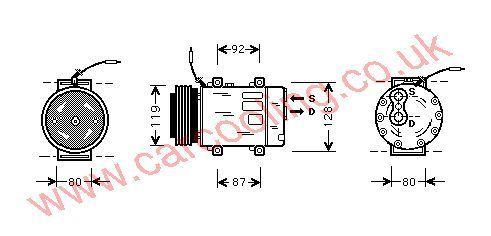 Compressor Renault Espace III    7700111289