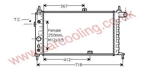 Radiator Vauxhall Astra Mk 2 1302030 - 90180562