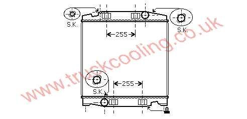 Radiator Iveco Cursor    41218266