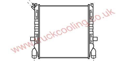 Radiator Scania 80 Series    0334840 / 0310080