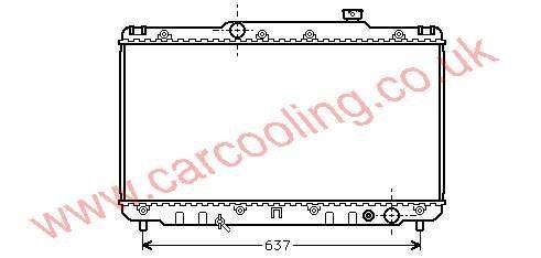 Radiator Toyota Camry III    16400-03050 / 74750