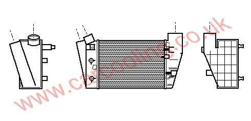 Intercooler Audi A4 II    8E0.145.806 C / D