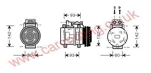 Compressor Merc. W126 Saloon    2302511