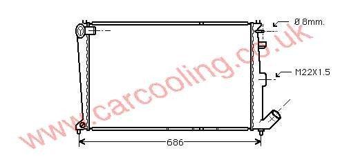 Radiator Citroen Xantia    96138923 / 1330.19
