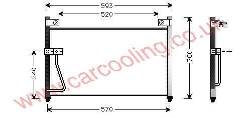Condenser Mazda 626 V GE4T-61-480 A / B