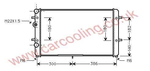 Radiator Seat Ibiza III 6K0.121.253 AE / BB